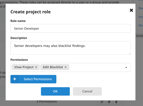 Creating a Project Role - Step 2