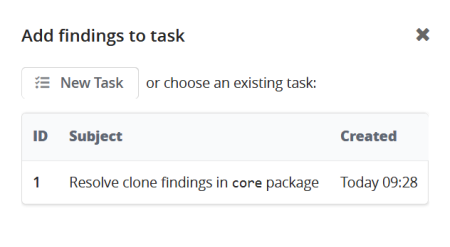 Adding A Finding To Task